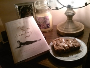 My quiet, cozy corner for a late night read. And a sweet snack too!